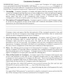 consignment agreement template download from accounting and