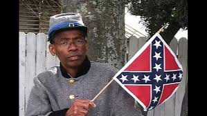 Confederate Flag Black And White Lone Black Man In Tampa Confederate Group Defends Heritage