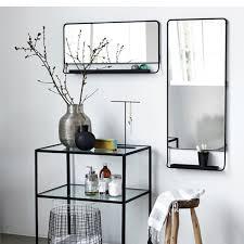 mirror w shelf chic horizontal black house doctor nordic