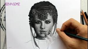 drawing selenagomez by juan andres starsdance youtube