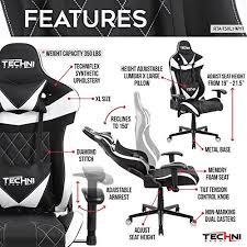 techni sport ergonomic high back gaming desk chair techni sport ts xl1 extra wide ergonomic high back racer style
