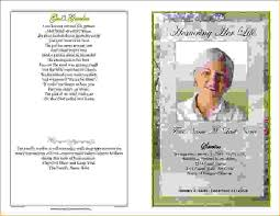 Free Funeral Programs 13 Funeral Program Templatesagenda Template Sample Agenda