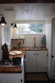 walnut wood classic blue windham door tiny house kitchen ideas