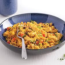 recettes de cuisines salade tiède de quinoa et de poulet au cari recettes cuisine et