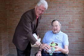 george h w bush date of birth bill clinton visits george h w bush in houston