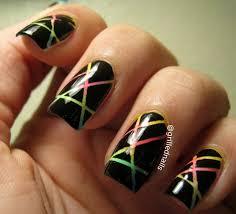 nail art gradientping tape nail art youtube singular image