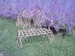 Metal Garden Chair Wrought Iron Fan Patio Garden Chair Metal Seating