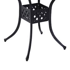 aosom outsunny square cast aluminum outdoor dining table black