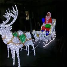 reindeer with sleigh led christmas lights reindeer with sleigh
