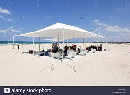 Chairs Israel Israel Mediterranean Sea Temporary Seaside Cafe A Shade Net