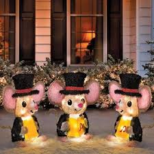 Christmas Yard Decorations Carolers by Christmas Lights Collection On Ebay