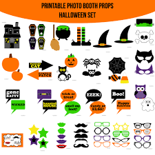 halloween photo booth props printable pdf instant download halloween printable photo booth prop set amanda