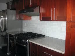 Contemporary Kitchen Backsplashes Black Glass Mosaic Tile Backsplash White Glass Subway Tile
