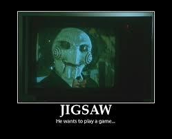 Saw Doll Meme - jigsaw motivator by movie man on deviantart