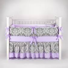 Lavender And Grey Crib Bedding Make Your Nursery With Caden S Designer Lavender Sweet