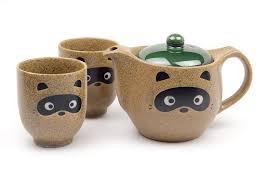 tea set raccoon dog tea set