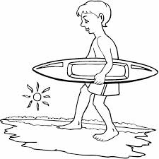 Surfing Boy Coloring Page Surfboard Coloring Page