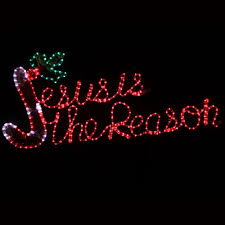 outdoor decoration 20 led rope light jesus is the reason motif