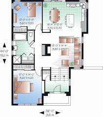 modern home plan impressive idea simple modern home design plans 4 house and