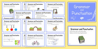 year 2 grammar and punctuation challenge cards grammar