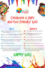 how to celebrate safe and eco friendly holi with kids my little