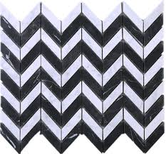 Tile Black And White Marble by White Carrara Series Contast Wave Black And White Marble Stone