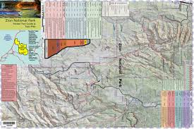 Map Of Zion National Park Pocket Guide And Topo Map Of Zion National Park