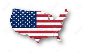 Flag Of The United States Of America Map Of The United States Of America With American Flag Colors
