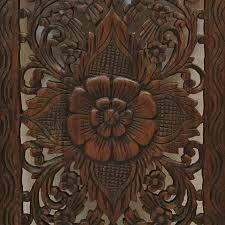 floral wood carved wall panel wall hanging decorative thai wall
