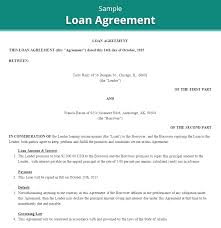 doc 400518 loan repayment contract free template u2013 loan