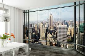 wall mural new york city skyline