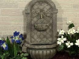 Garden Fountains And Outdoor Decor Corsini Wall Fountain Garden Fountains Outdoor Decor Stone Wall