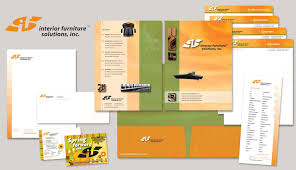 Interior Solutions Inc Logo Design And Marketing Materials For Interior Furniture