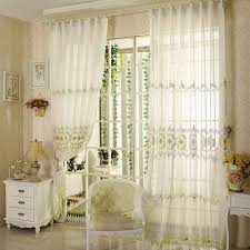 Patterned Sheer Curtains Beautiful Embroidery Patterned Sheer Curtains