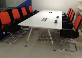 White Gloss Meeting Table White High Gloss Glass Top Conference Table For Office Furniture