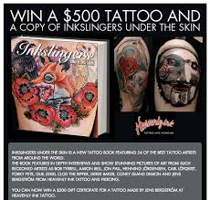 win a 500 tattoo and a copy of inkslingers under the skin