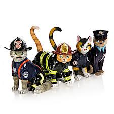 firefighter figurines furr cat firefighter figurine collection