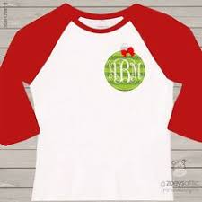 monogrammed christmas monogrammed merry christmas sleeved shirt by elleqdesigns