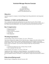Retail Management Resume Examples by General Manager Objective Government Resume Contract Specialist