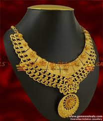 new fashion necklace designs images Queens necklace design grand party wear imitation choker design jpg