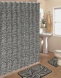 Zebra Kitchen Rug Amazon Com 4pcs Bath Rug Set Zebra White Print Bathroom Rug