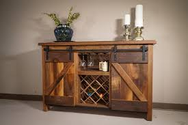 Barn Door Furniture Bunk Beds Sliding Barn Door Wine Server