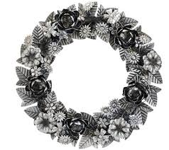 ed on air 18 metal floral wreath by degeneres page 1