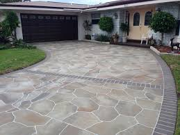 Types Of Patio Pavers by Different Types Of Concrete Driveway Materials Service Com Au