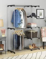 Home Network Closet Design by Amazon Com Whitmor Double Rod Closet Freestanding Silver Black