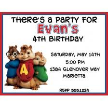 alvin and the chipmunks birthday invitations alvin and the