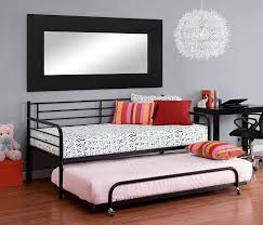 Twin Bed Frame With Trundle Pop Up Amazon Com Dhp Separate Trundle For Dhp Metal Daybed Frame Black
