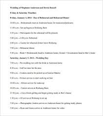 34 wedding timeline templates u2013 free sample example format