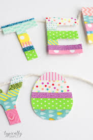 washi tape easter banner typically simple