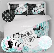 Mint Green Duvet Set Designer Art Bedding Set Breakfast At Tiffany U0027s Mint Green And